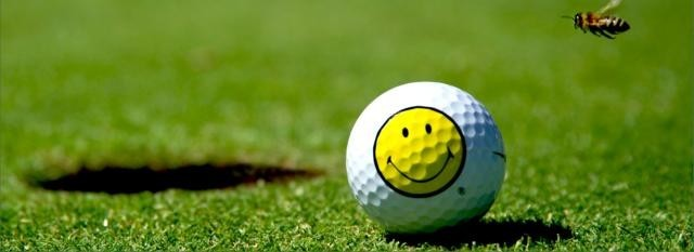 Golfball mit Smiley